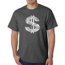 Load image into Gallery viewer, LA Pop Art Men's Word Art T-shirt - Dollar Sign