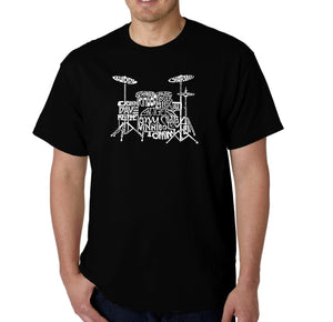LA Pop Art Men's Word Art T-shirt - Drums