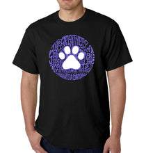 Load image into Gallery viewer, LA Pop Art  Men's Word Art T-shirt - Gandhi's Quote on Animal Treatment