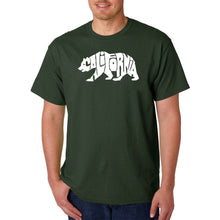 Load image into Gallery viewer, LA Pop Art Men's Word Art T-shirt - California Bear
