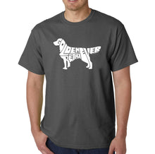 Load image into Gallery viewer, LA Pop Art  Men's Word Art T-shirt - Golden Retreiver