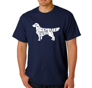 LA Pop Art  Men's Word Art T-shirt - Golden Retreiver