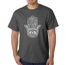 Load image into Gallery viewer, LA Pop Art Men's Word Art T-shirt - Hamsa