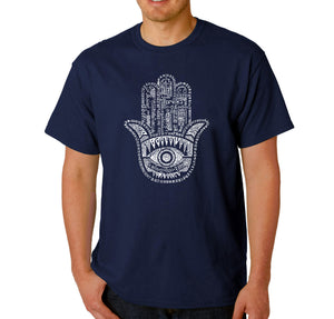 LA Pop Art Men's Word Art T-shirt - Hamsa