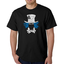 Load image into Gallery viewer, LA Pop Art Men's Word Art T-shirt - The Mad Hatter