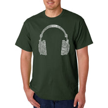 Load image into Gallery viewer, LA Pop Art Men's Word Art T-shirt - 63 DIFFERENT GENRES OF MUSIC