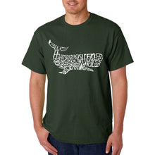 Load image into Gallery viewer, LA Pop Art  Men's Word Art T-shirt - Humpback Whale
