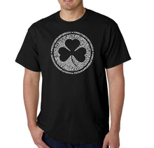 Load image into Gallery viewer, LA Pop Art Men's Word Art T-shirt - LYRICS TO WHEN IRISH EYES ARE SMILING
