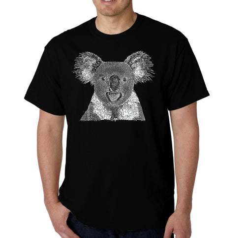 LA Pop Art Men's Word Art T-shirt - Koala