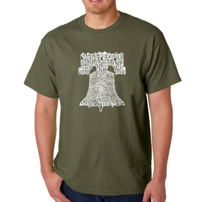 LA Pop Art  Men's Word Art T-shirt - Liberty Bell