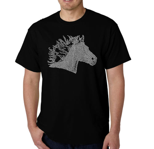 LA Pop Art Men's Word Art T-shirt - Horse Mane