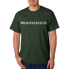 Load image into Gallery viewer, LA Pop Art Men's Word Art T-shirt - LYRICS TO THE MARINES HYMN