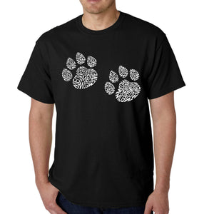 LA Pop Art  Men's Word Art T-shirt - Meow Cat Prints