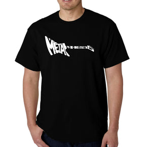 LA Pop Art Men's Word Art T-shirt - Metal Head