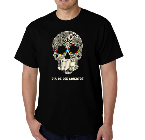 LA Pop Art Men's Word Art T-shirt - Dia De Los Muertos