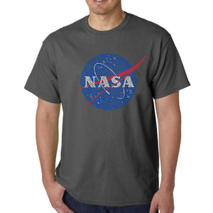 LA Pop Art  Men's Word Art T-shirt - NASA's Most Notable Missions