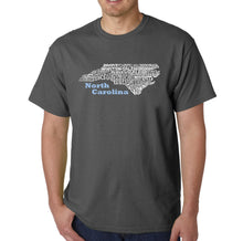 Load image into Gallery viewer, LA Pop Art Men's Word Art T-shirt - North Carolina
