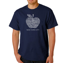 Load image into Gallery viewer, LA Pop Art Men's Word Art T-shirt - Neighborhoods in NYC