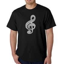 Load image into Gallery viewer, LA Pop Art  Men's Word Art T-shirt - Music Note