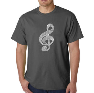 LA Pop Art  Men's Word Art T-shirt - Music Note
