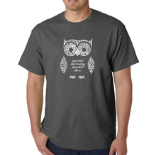 Load image into Gallery viewer, LA Pop Art  Men's Word Art T-shirt - Owl