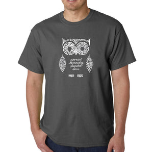 LA Pop Art  Men's Word Art T-shirt - Owl