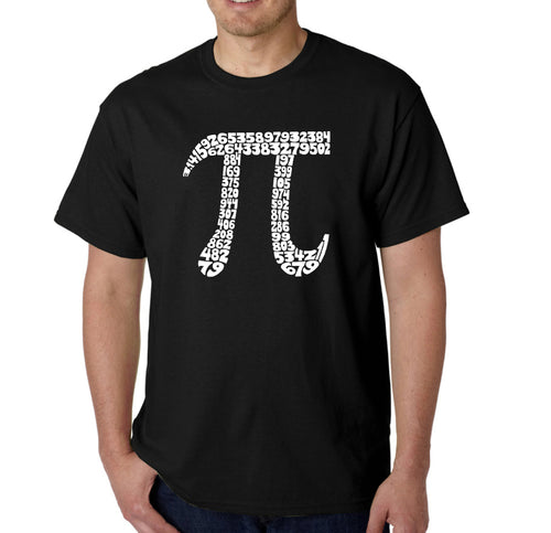 LA Pop Art Men's Word Art T-shirt - THE FIRST 100 DIGITS OF PI