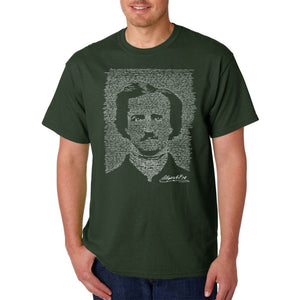 LA Pop Art Men's Word Art T-shirt - EDGAR ALLAN POE - THE RAVEN