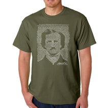 Load image into Gallery viewer, LA Pop Art Men's Word Art T-shirt - EDGAR ALLAN POE - THE RAVEN