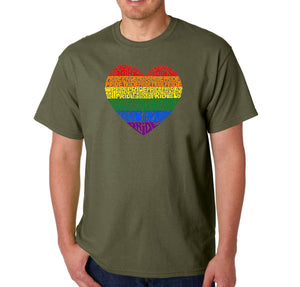 LA Pop Art Men's Word Art T-shirt - Pride Heart