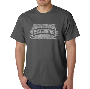 LA Pop Art Men's Word Art T-shirt - The US Ranger Creed