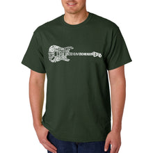 Load image into Gallery viewer, LA Pop Art  Men's Word Art T-shirt - Rock Guitar