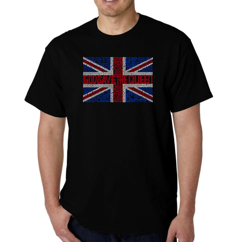 LA Pop Art Men's Word Art T-shirt - God Save The Queen