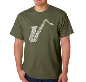 LA Pop Art Men's Word Art T-shirt - Sax