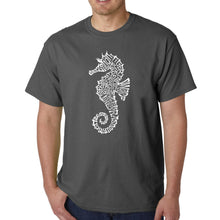 Load image into Gallery viewer, LA Pop Art  Men's Word Art T-shirt - Types of Seahorse