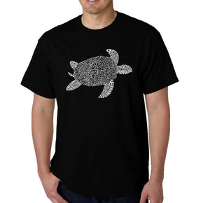LA Pop Art Men's Word Art T-shirt - Turtle