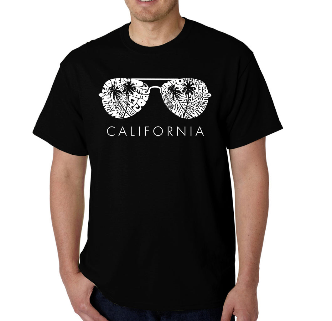 LA Pop Art Men's Word Art T-shirt - California Shades