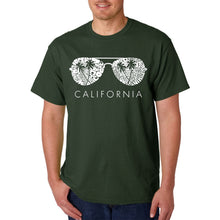Load image into Gallery viewer, LA Pop Art Men's Word Art T-shirt - California Shades