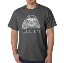 Load image into Gallery viewer, LA Pop Art Men's Word Art T-shirt - Sloth