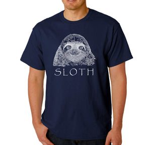 LA Pop Art Men's Word Art T-shirt - Sloth