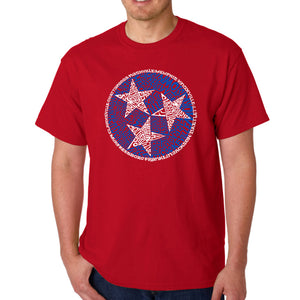 LA Pop Art Men's Word Art T-shirt - Tennessee Tristar