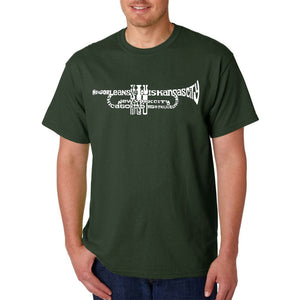 LA Pop Art Men's Word Art T-shirt - Trumpet