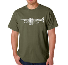 Load image into Gallery viewer, LA Pop Art Men's Word Art T-shirt - Trumpet