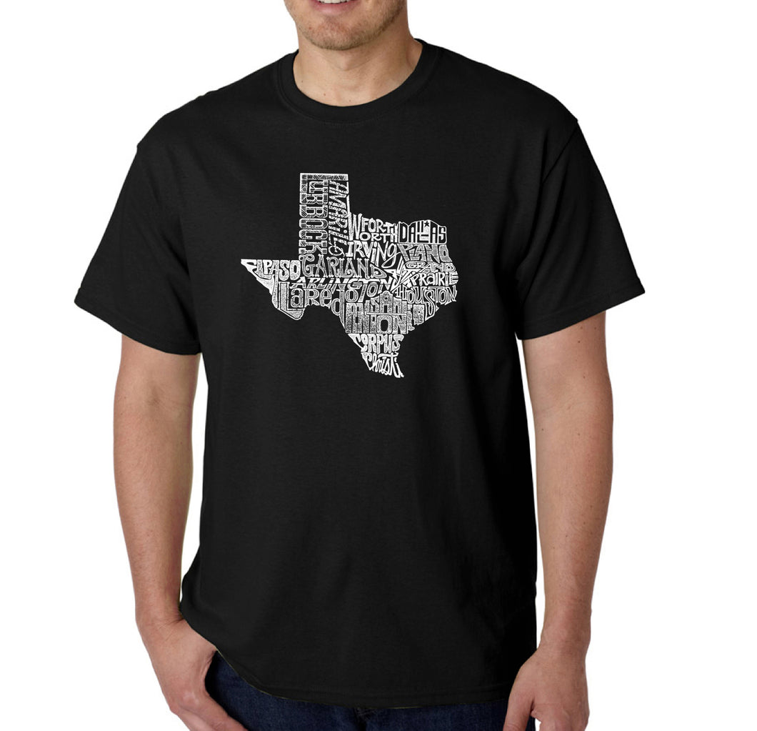 LA Pop Art Men's Word Art T-shirt - The Great State of Texas