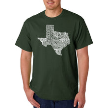Load image into Gallery viewer, LA Pop Art Men's Word Art T-shirt - The Great State of Texas