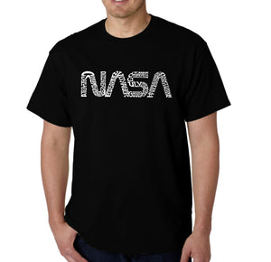 LA Pop Art Men's Word Art T-shirt - Worm Nasa