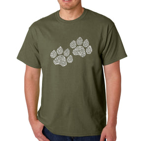 LA Pop Art  Men's Word Art T-shirt - Woof Paw Prints