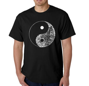 LA Pop Art Men's Word Art T-shirt - YIN YANG