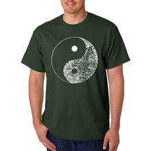 Load image into Gallery viewer, LA Pop Art Men's Word Art T-shirt - YIN YANG