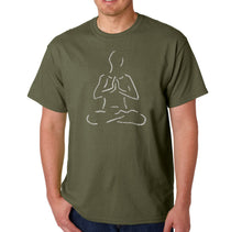 Load image into Gallery viewer, LA Pop Art Men's Word Art T-shirt - POPULAR YOGA POSES